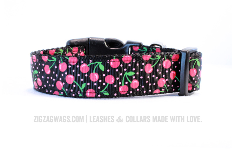 Cheerful Cherry Dog Collar from ZigZag Wags