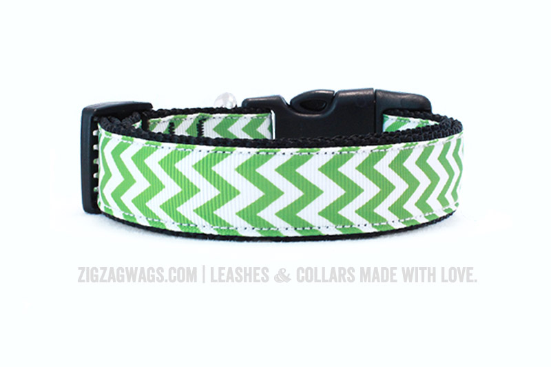Green Grass Dog Collar - ZigZag Wags
