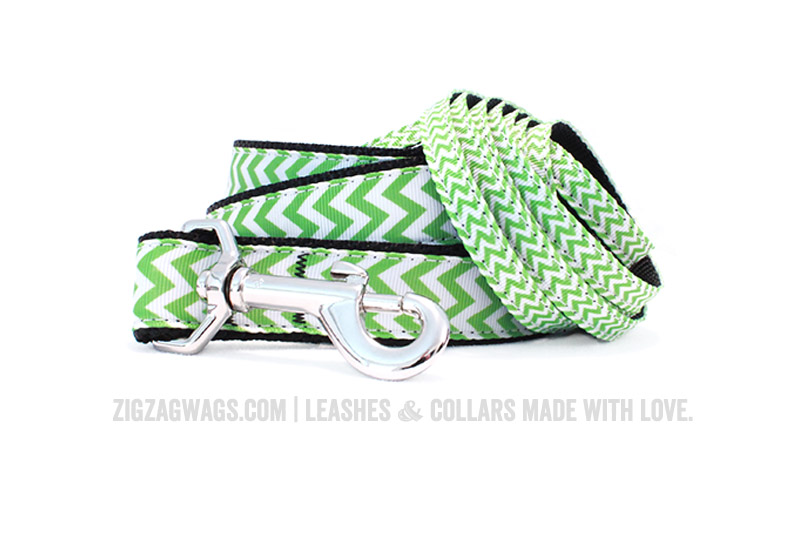 Green Dog Leashes from ZigZag Wags