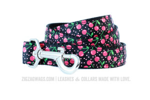 Black Cherry Dog Leash from ZigZag Wags