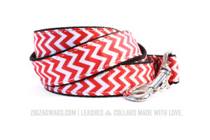 Fire Hydrant Red Dog Leash from ZigZag Wags