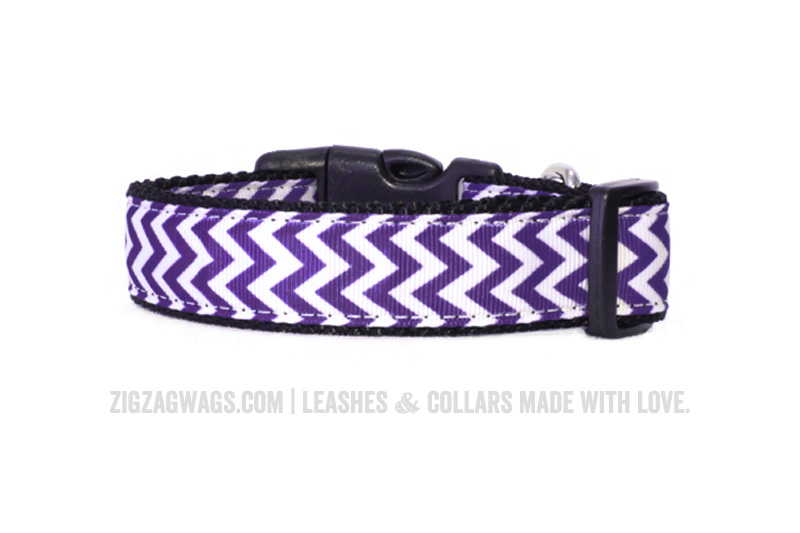Purple Dog Collar from ZigZag Wags