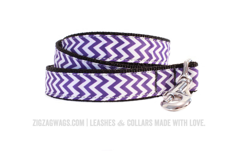 Large Purple Dog Leash from ZigZag Wags