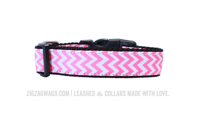 Pink Dog Collar from ZigZag Wags