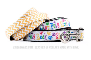 ZigZag Wags Dog Leashes for Shelter Pets