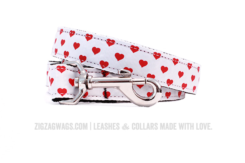 Happy Hearts Dog Leash from ZigZag Wags