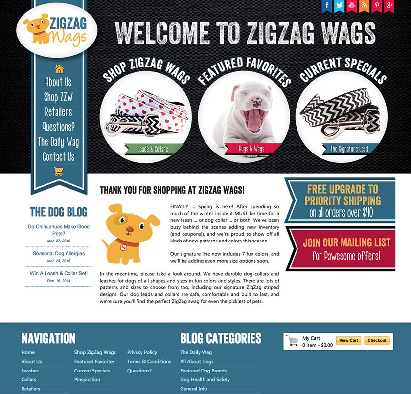 ZigZag Wags website version 1.0